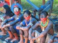 The Kayapó get settled at the encampment in Altamira (Glenn Switkes)