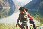 Maya-Achí children at Chixoy Dam Reservoir