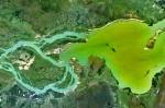 Satellite photo Yacyretá reservoir
